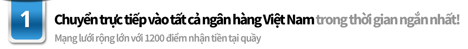 最短即時*でベトナム全銀行口座へ送金可能! キャッシュなら437店で受取可能な幅広いネットワーク